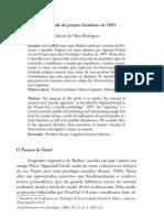 A Atualidade Do Projeto Freudiano de 1895 - Memoria e o Aparelho Psiquico - Sidarta Da Silva Rodrigues