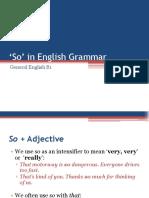 GE B1 - So in English Grammar
