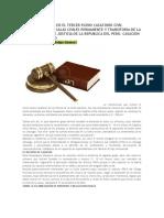 Entencia Dictada en El Tercer Pleno Casatorio Civil Realizado Por La Salas Civiles Permanente y Transitoria de La Corte Suprema de Justicia de La Republica Del Peru