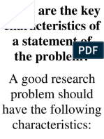 What are the key characteristics of a statement of the problem.docx