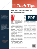 Tech Tips 19 the Standard for Hot Dip Galvanized Coatings