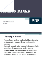 Foreign Bank's