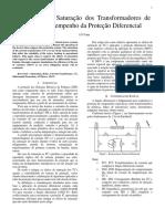 Influência Da Saturação Dos Transformadores de Corrente No Desempenho Da Proteção Diferencial