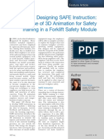 The Use of 3D Animation for Safety Training in a Forklift Safety Module