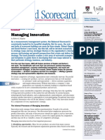 Kaplan & Norton Bsc Report - 2003 - Bsc and Innovation