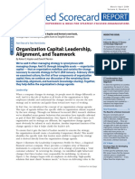 KAPLAN&NORTON BSC REPORT 2004 Organization Capital Leadership Alignment and Teamwork 2