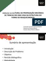ANÁLISE ESTRUTURAL DA PROPAGAÇÃO MECÂNICA DE TRINCAS EM UMA VIGA DA ESTRUTURA DO FORNO DE REAQUECIMENTO