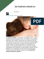 Secuelas del maltrato infantil en adultos