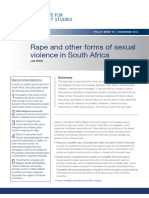Rape and Other Forms of Sexual Violence in South Africa (2014)