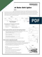 Installation of Baler Belt Splice - Apache Inc.