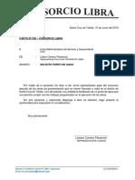 Modelo de carta solicitud obras