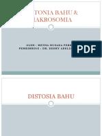 6. Distonia Bahu & Makrosomia (Metha)