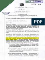 Ley 1210 Epsas