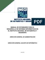 Manual de Estándares Para El Desarrollo de Sistemas Informáticos en El Instituto Nacional de Estadística y Geografía