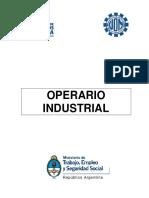 Operario Industrial Nivel Introductorio