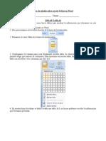 Guía de estudio sobre uso de Tablas en Word