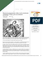 Hacia Un Pensamiento Crítico en La Conciencia Ciudadana_ Sí Hay, Pero No Tenemos