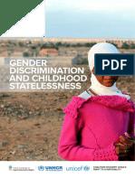 Gender Discrimination Childhood Statelessness Web