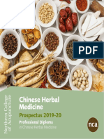 NCA Chinese Medicine Course Prospectus