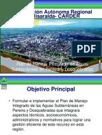 Plan de manejo aguas subtuerráneas Pereira
