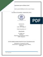Organisation Report on Reliance Fresh