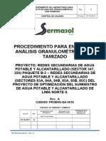 PROENS-QA-001S_A Analisis Granulometrico Por Tamizado