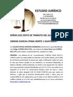 Señor Juez Sexto de Transito Del Guayas