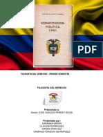 Trabajo Filosofia Del Derecho - Constitucion Politica de Colombia 1991
