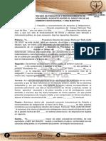 Documento Privado de Finiquitos y Reconocimiento de Derechos y Obligaciones