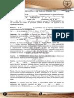 Contrato de Trabajo a Plazo Fijo