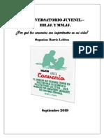 Tríptico Del Conversatorio Juvenil 2019