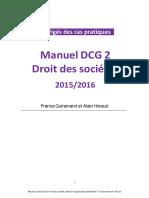Manuel DCG 2 Droit des sociétés 2015/2016
