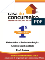 Analise Combinatoria Mpc Matematica e Raciocinio Logico