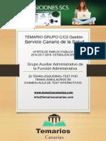 Temario Auxiliar Administrativo SCS