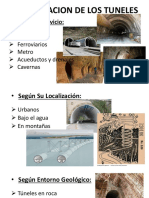 caracteristucas de tuneles
