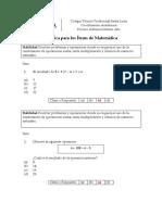PUCOBA Practica Matemática