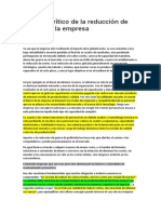 ANALISIS DE PUNTOS CRITICOS DE LA REDUCCION DE COSTOS DE UNA EMPRESA