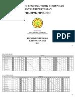 Jadwal Dan Rencana Topik Kunjungan 2012