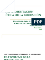 Fundamentos de la Etica en Educacion. Pedro Ortiz cabanillas