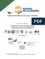 V INFORME DEL ESTADO DE LA REGION. CRECIMIENTO DE LAS ÁREAS METROPOLITANAS