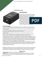 GPS GF-07 Enhanced Magnetic Locator. User Manual. English. Org-Info.mobi