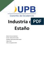 Industria Del Estaño