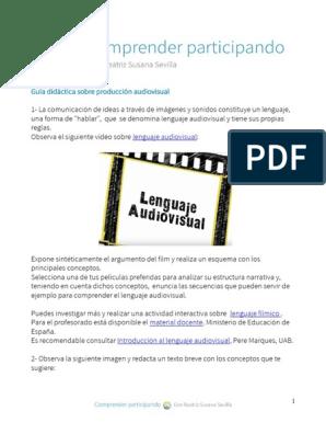 Lenguaje Audiovisual Cámara Narrativa
