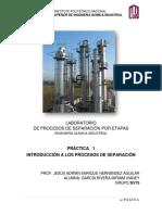 """Practica 1 Destilacion """"INTRODUCCIÓN"""""""