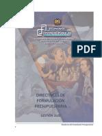 Directrices de Formulación Presupuestaria 2020