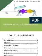 Auditoria y Control Interno.