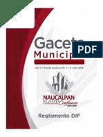 Gaceta Especial No. 7 Reglamento DIF Julio (1)