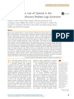 The Appropriate Use of Opioids in the Treatment of Refractory Restless Legs Syndrome