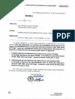 Certificado de Factibilidad de Agua y Desague