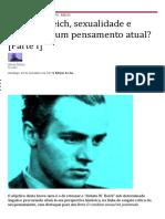 Artigo Sobre Wilhelm Reich - Sexualidade